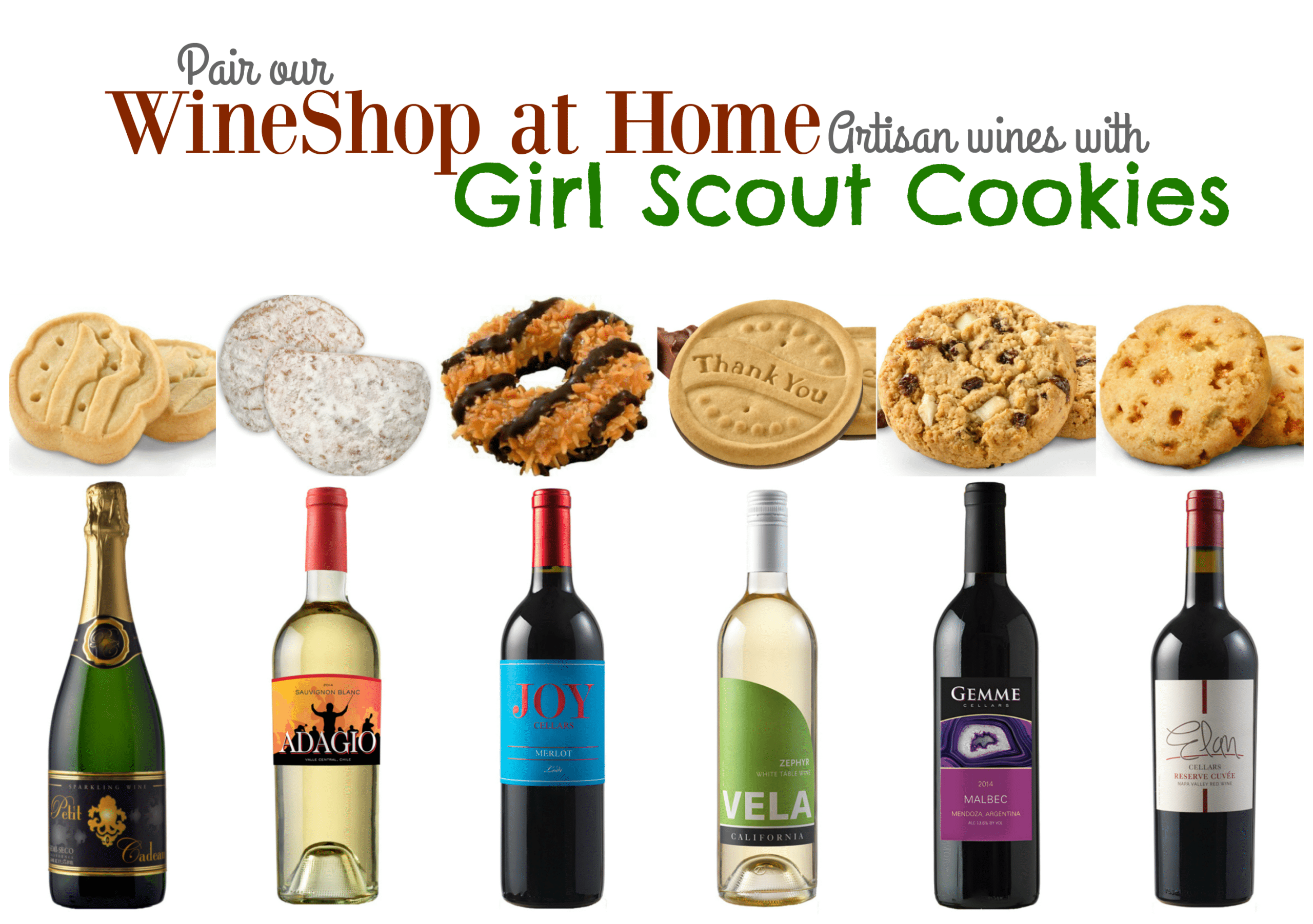 Girl Scout Cookies and WineShop at Home Wine