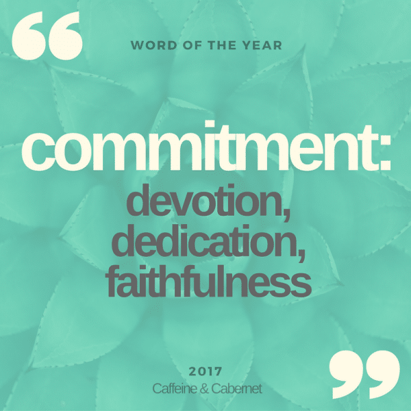 commitment word of the year